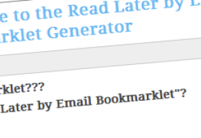 Read Later By Email Bookmarklet